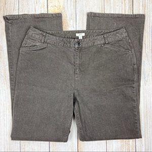 J.JILL Brown Stretch Bootcut Denim Jeans